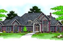 Dream House Plan - Traditional Exterior - Front Elevation Plan #70-557