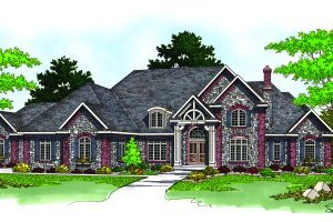 Traditional Exterior - Front Elevation Plan #70-557