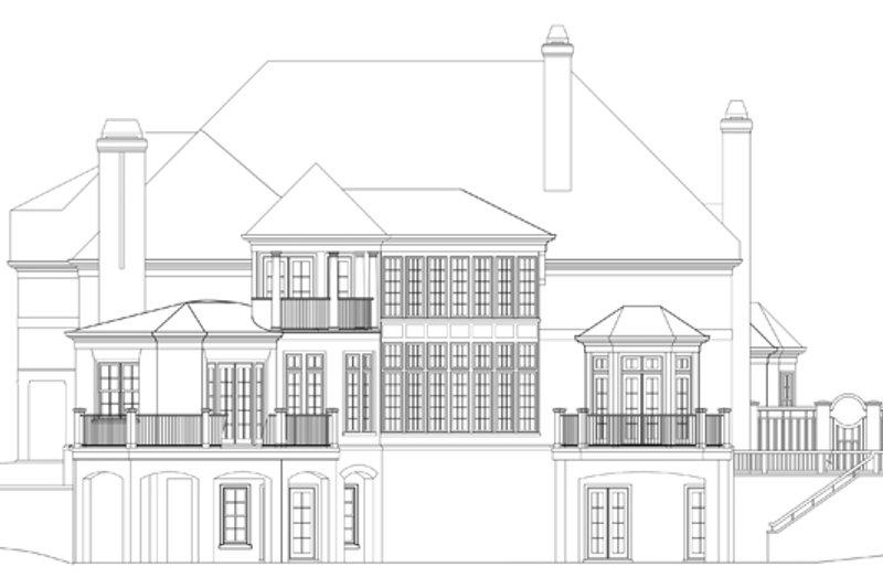 European Exterior - Rear Elevation Plan #119-421 - Houseplans.com
