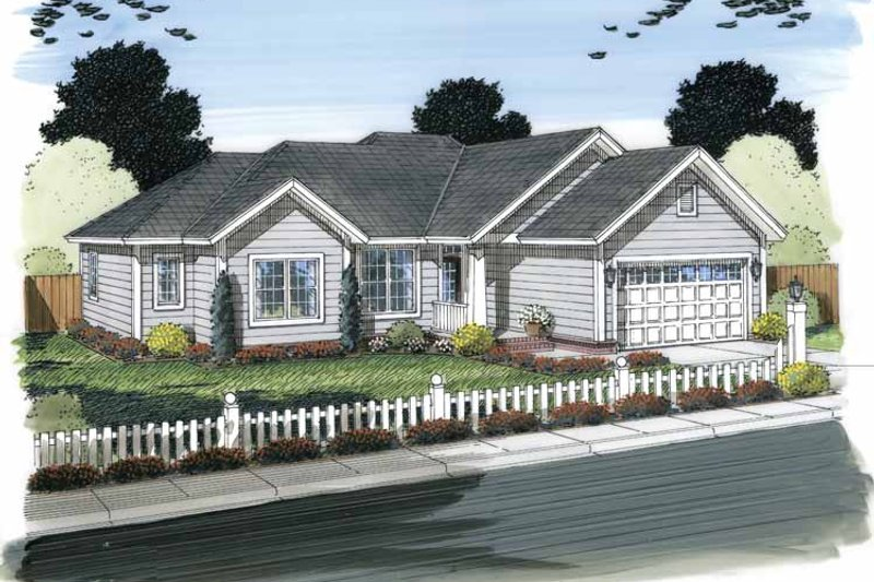 House Plan Design - Traditional Exterior - Front Elevation Plan #513-2145