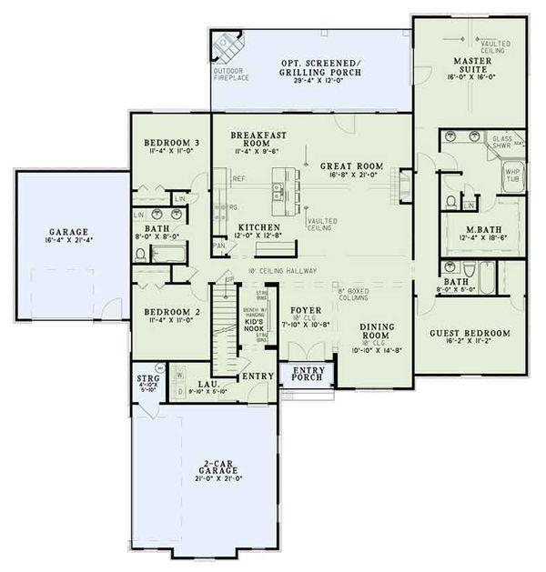Dream House Plan - European Floor Plan - Main Floor Plan #17-3387