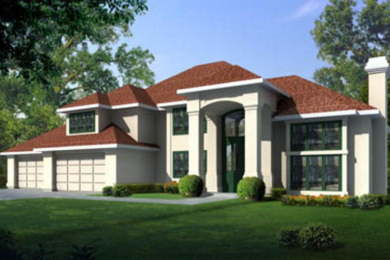 Home Plan - European Exterior - Front Elevation Plan #93-212