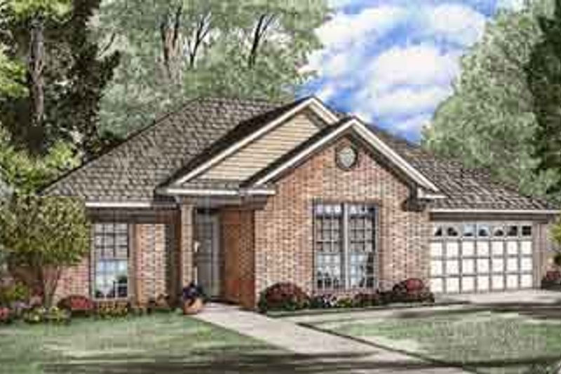 House Plan Design - Traditional Exterior - Front Elevation Plan #17-2094