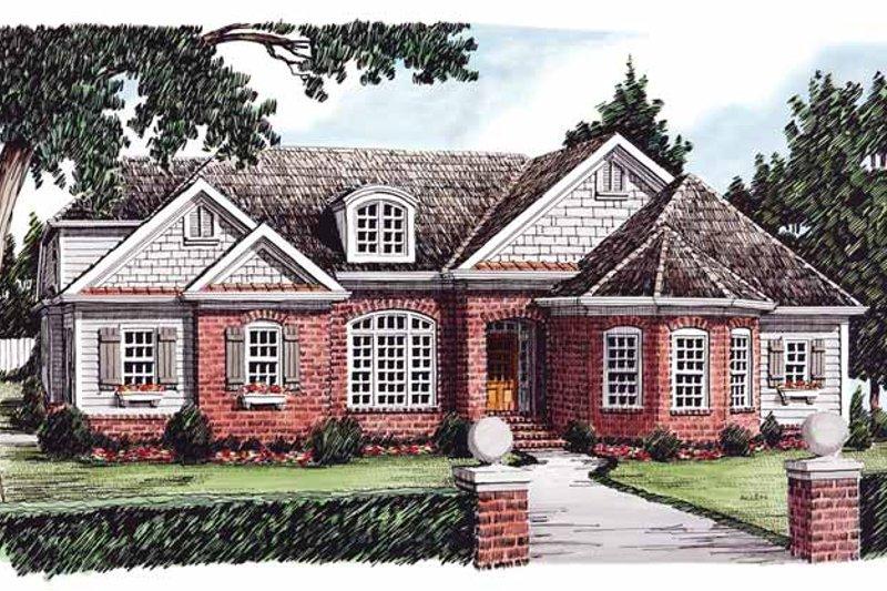 House Plan Design - European Exterior - Front Elevation Plan #927-610
