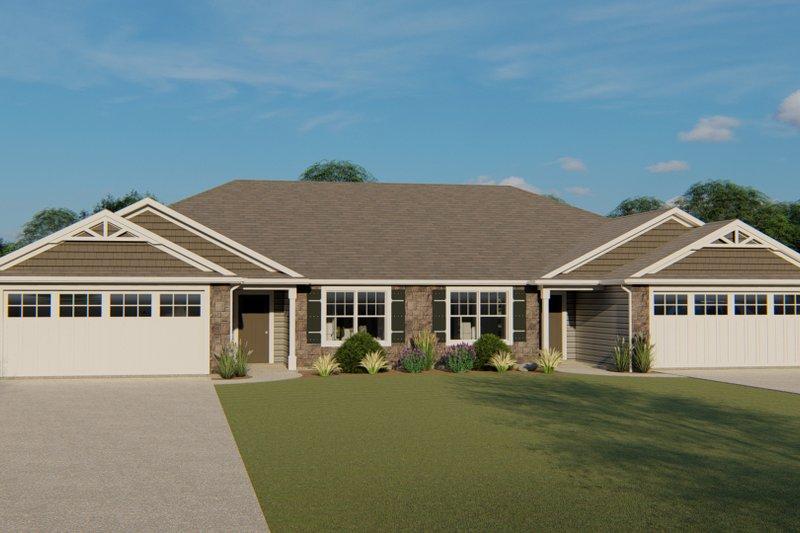 House Plan Design - Craftsman Exterior - Front Elevation Plan #1064-92