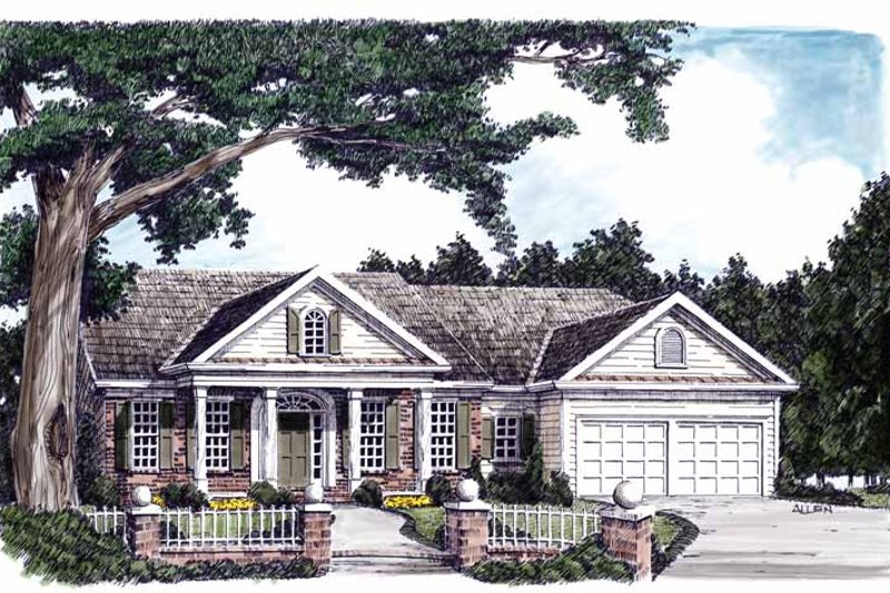 Classical Exterior - Front Elevation Plan #927-577 - Houseplans.com