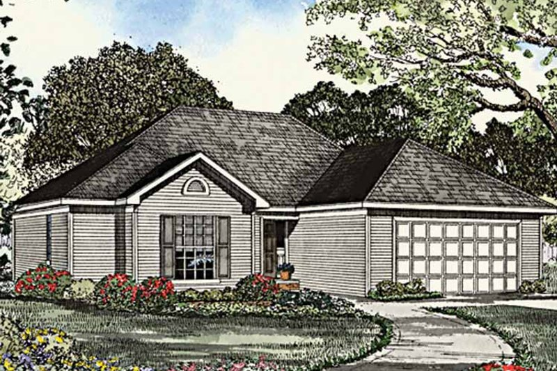 Ranch Exterior - Front Elevation Plan #17-3134 - Houseplans.com