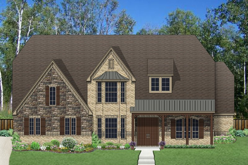 European Exterior - Front Elevation Plan #84-431
