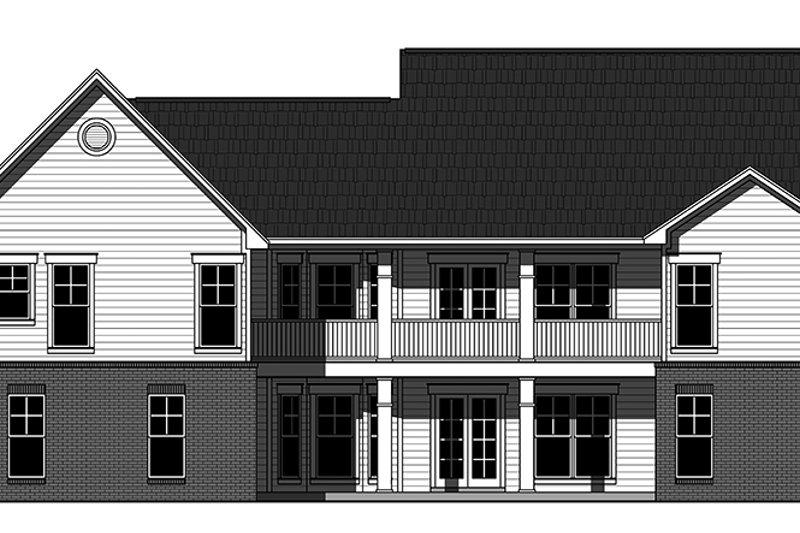 Ranch Exterior - Rear Elevation Plan #21-436 - Houseplans.com