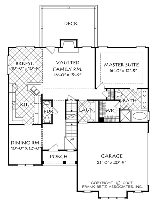 Cottage Floor Plan - Main Floor Plan Plan #927-972