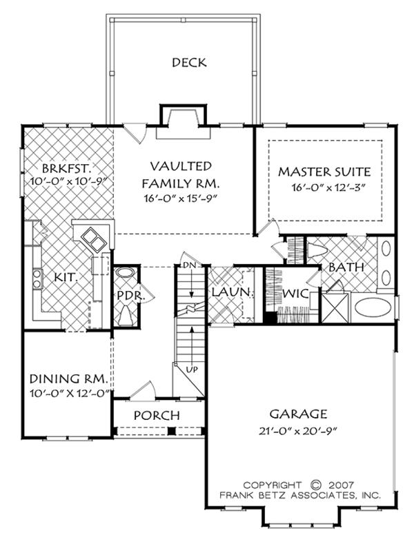 House Plan Design - Cottage Floor Plan - Main Floor Plan #927-972