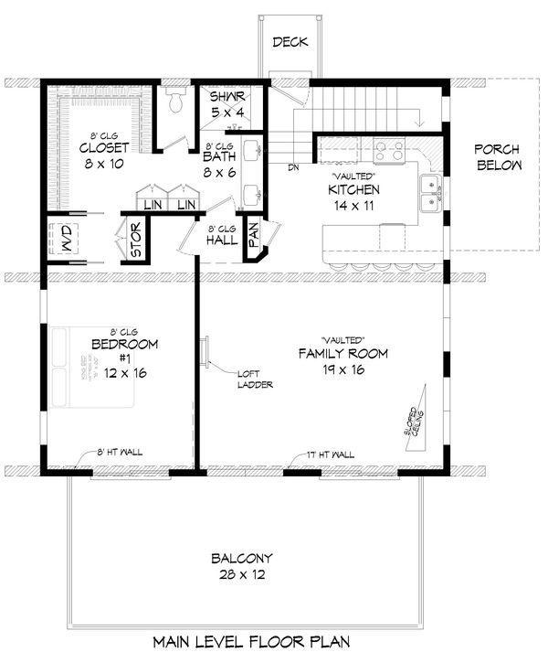 Architectural House Design - Country Floor Plan - Main Floor Plan #932-380