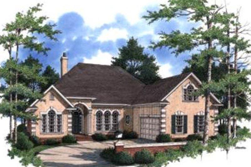 Home Plan - European Exterior - Front Elevation Plan #37-128
