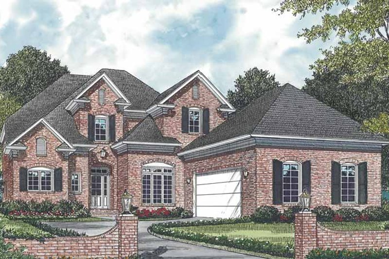 Traditional Exterior - Front Elevation Plan #453-140 - Houseplans.com