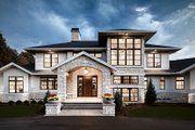 Contemporary Style House Plan - 4 Beds 3.5 Baths 4983 Sq/Ft Plan #928-287 Exterior - Front Elevation