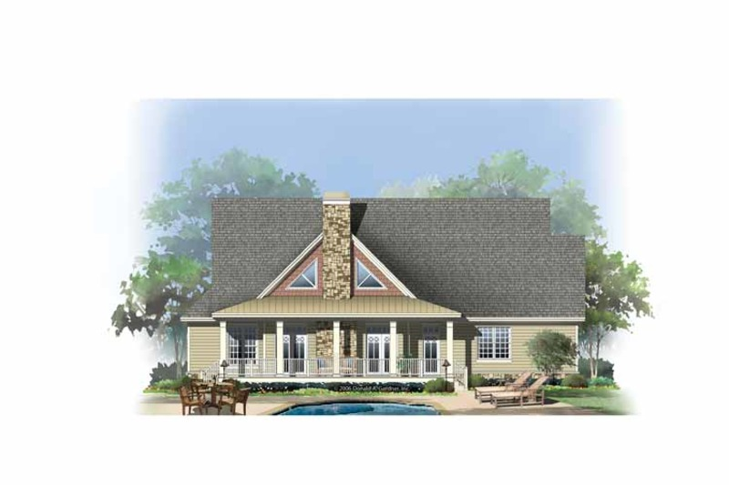 European Exterior - Rear Elevation Plan #929-859 - Houseplans.com