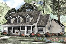Country Exterior - Front Elevation Plan #17-3144