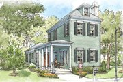 Colonial Style House Plan - 3 Beds 2.5 Baths 1656 Sq/Ft Plan #900-6 Exterior - Front Elevation