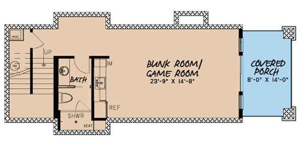 Craftsman Floor Plan - Lower Floor Plan Plan #17-3399