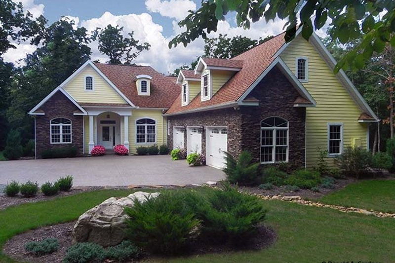 Country Exterior - Front Elevation Plan #929-700