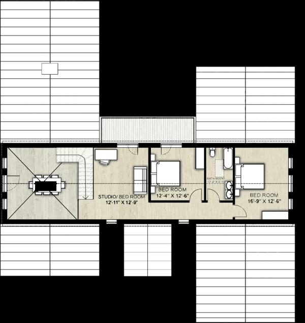 Home Plan - Farmhouse Floor Plan - Upper Floor Plan #924-5