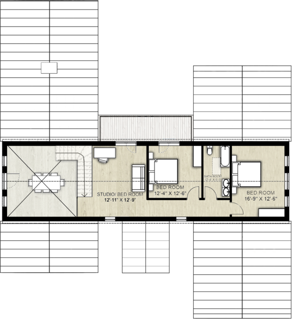 Farmhouse Floor Plan - Upper Floor Plan Plan #924-5
