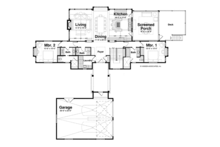 Craftsman Floor Plan - Main Floor Plan Plan #928-252