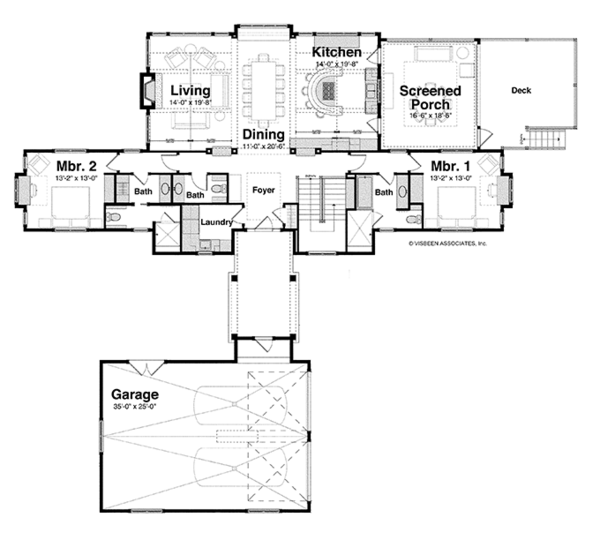 House Plan Design - Craftsman Floor Plan - Main Floor Plan #928-252