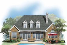 Country Exterior - Rear Elevation Plan #929-638
