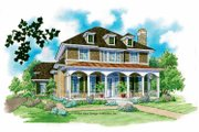 Classical Style House Plan - 3 Beds 2.5 Baths 2562 Sq/Ft Plan #930-211 Exterior - Front Elevation