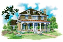 Home Plan - Classical Exterior - Front Elevation Plan #930-211
