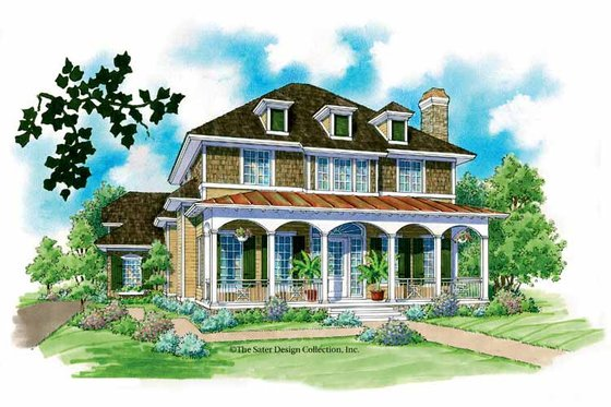 Classical Exterior - Front Elevation Plan #930-211