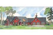 Craftsman Style House Plan - 4 Beds 3.5 Baths 3053 Sq/Ft Plan #928-36 Exterior - Front Elevation
