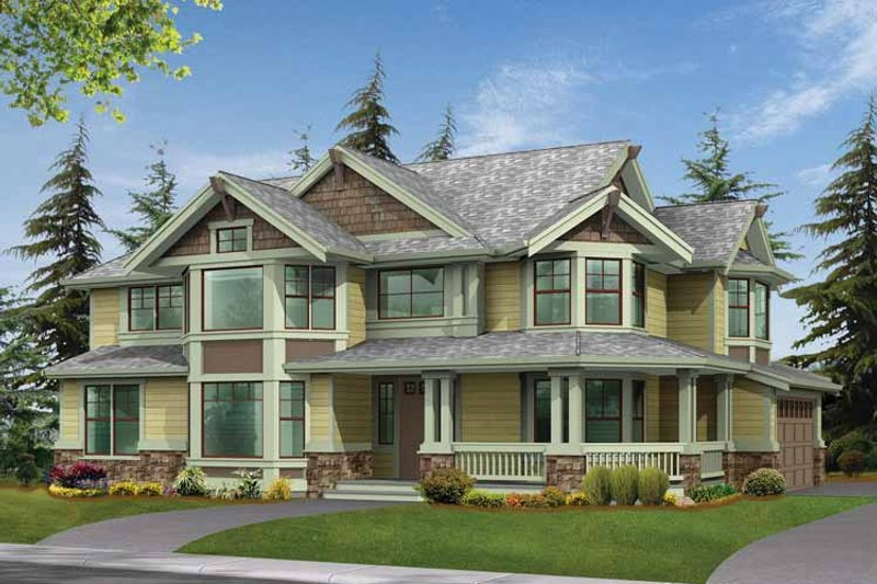 Craftsman Exterior - Front Elevation Plan #132-244 - Houseplans.com