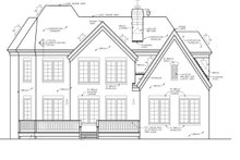 House Plan Design - Country Exterior - Rear Elevation Plan #453-276