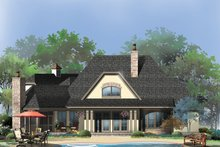European Exterior - Rear Elevation Plan #929-950