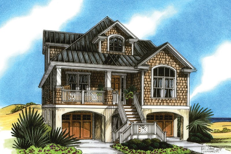 Architectural House Design - Colonial Exterior - Front Elevation Plan #991-24