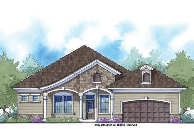 Architectural House Design - Country Exterior - Front Elevation Plan #938-80