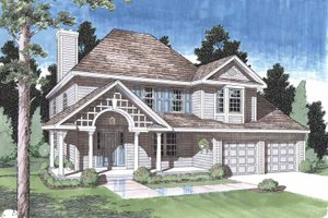 Classical Exterior - Front Elevation Plan #1029-47