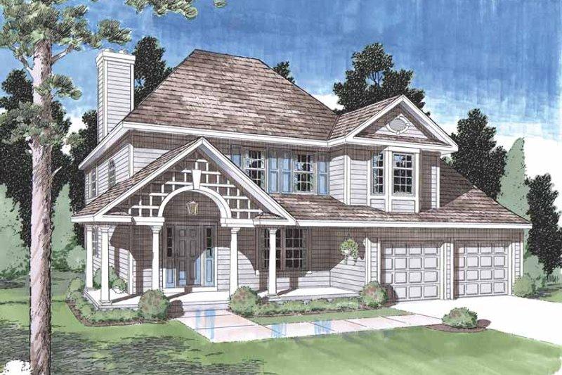 Classical Exterior - Front Elevation Plan #1029-47 - Houseplans.com