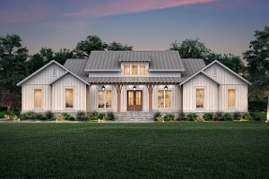 Home Plan - Farmhouse Exterior - Front Elevation Plan #430-224