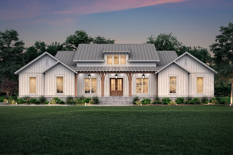 Dream House Plan - Farmhouse Exterior - Front Elevation Plan #430-224