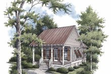 Architectural House Design - Traditional Exterior - Front Elevation Plan #45-421