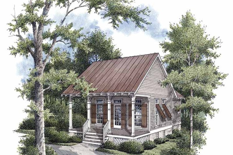 Traditional Exterior - Front Elevation Plan #45-421 - Houseplans.com