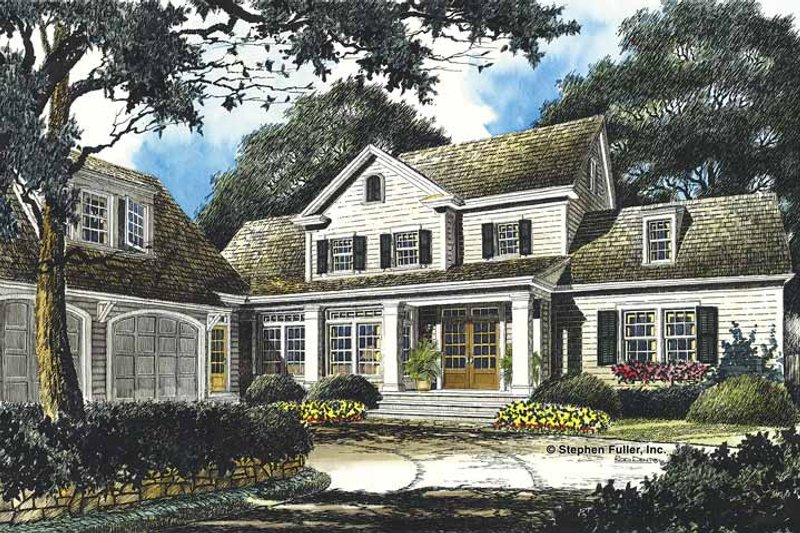 Dream House Plan - Country Exterior - Front Elevation Plan #429-357