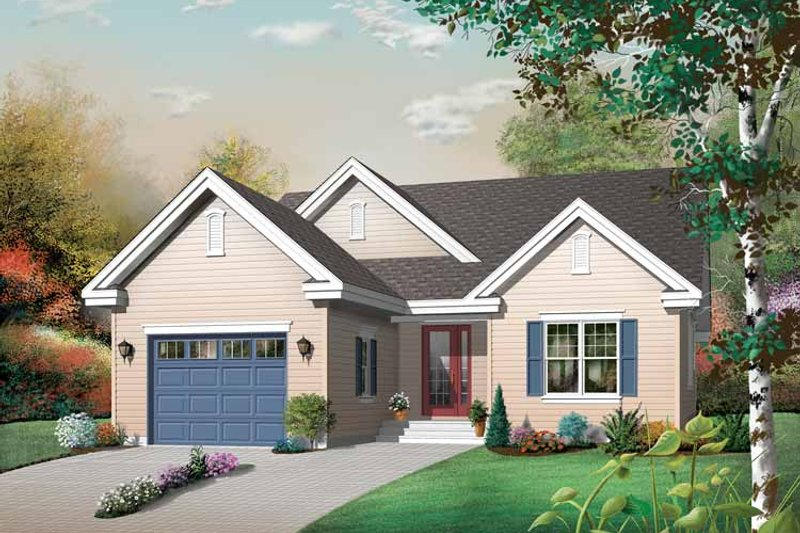 Traditional Exterior - Front Elevation Plan #23-2430 - Houseplans.com