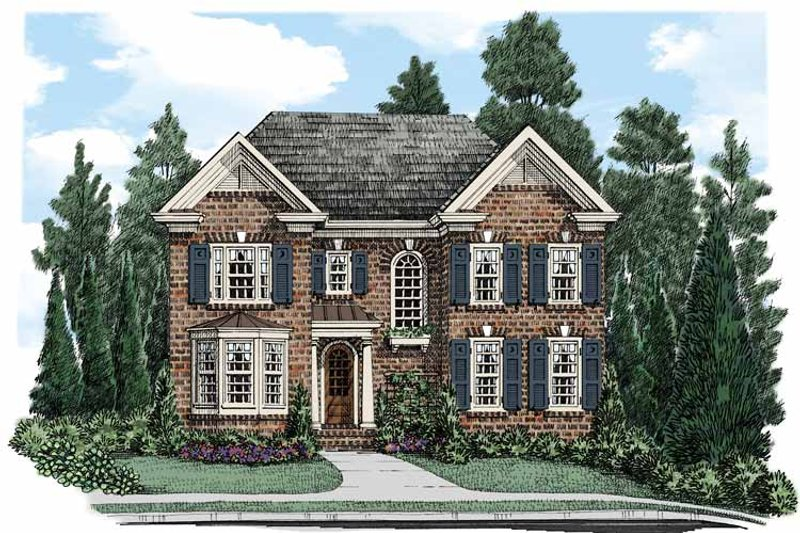 Traditional Exterior - Front Elevation Plan #927-500 - Houseplans.com
