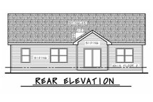 Dream House Plan - Craftsman Exterior - Rear Elevation Plan #20-2182