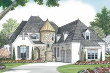 House Design - Tudor Exterior - Front Elevation Plan #453-467