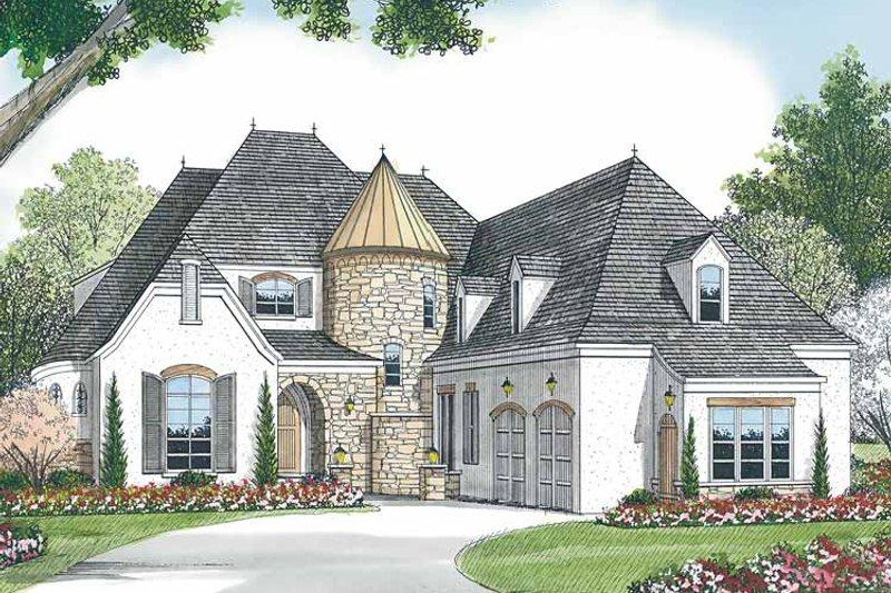 Dream House Plan - Tudor Exterior - Front Elevation Plan #453-467